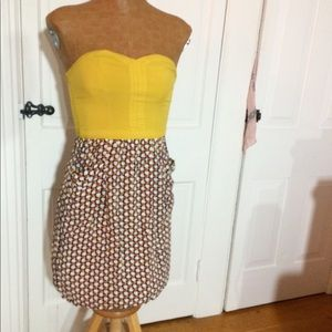 Strapless sweetheart dress w/ pockets!! 😊